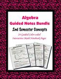 Algebra Guided Interactive Math Notebook (Bundle): [[2nd S