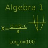 Algebra I Final Exam Review (71 Q)