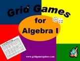 Algebra I Grid Games Book
