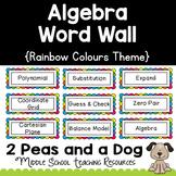 Algebra Math Word Wall