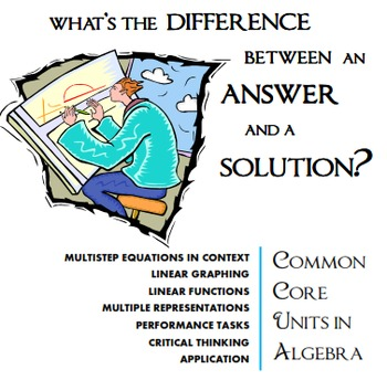Algebra Performance Task: Multistep Equations with Tables