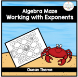 Algebra Working with Exponents Maze