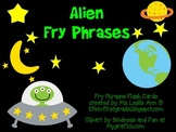 Alien Sight Word Phrases Flash Cards