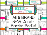 All 6 BRAND NEW Doodle Frame Packs- 400 Frames for Commercial Use