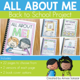 All About Me {A Mini Writing Unit}-Common Core Aligned