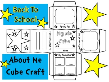All About Me Cube Craft-Back to School Fun!