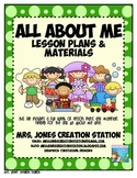 All About Me & More... Lesson Plans and Materials
