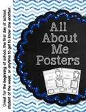 All About Me Posters