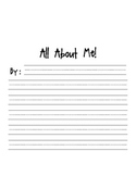 All About Me Writing Template Freebie