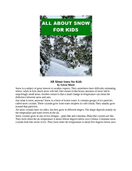 All About Snow for Kids
