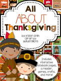 All About Thanksgiving- student books, interactive noteboo