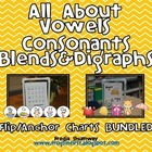 All About Vowels, Consonants, Blends & Digraphs Anchor/Fli