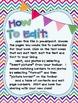 Rainbow Chevron All About Your New Teacher! Editable Book Kit
