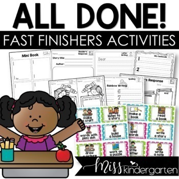 All Done! Now What? {activities for fast finishers} Part One!