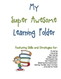 All-Inclusive Learning Skills and Strategies Folder - Blue