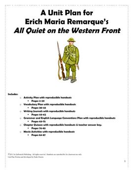 All Quiet on the Western Front Unit Plan (Erich Maria Remarque)