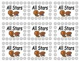 All Star Sports Behavior Punch Card