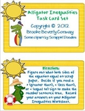 Alligator Inequalities Task Cards