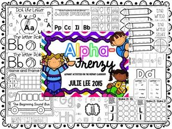 AlphaFrenzy Alphabet Activities