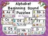 Alphabet Beginning Sound Puzzles- Preschool or Kindergarten