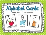 Alphabet Cards {3 sets} FREEBIE