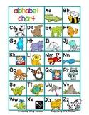Alphabet Chart color/b&w (FREE)