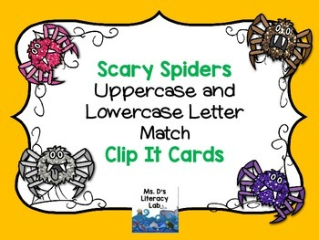 Alphabet Clip It Cards {Halloween}