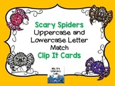 Alphabet Clip It Cards {Spiders}