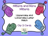 Alphabet Clip-It Cards {Winter---Uppercase to lowercase match }