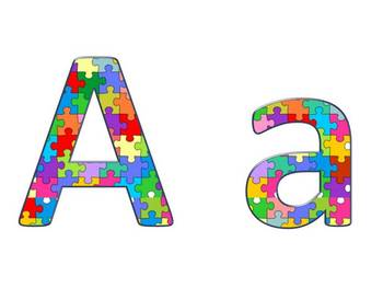 Alphabet & Digits for Bulletin Boards & TPT Products -Puzz