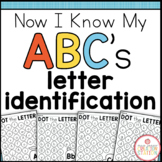 Alphabet Letter Identification Printables {Now I Know My A