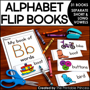 Alphabet Flip Books {31 Books to Practice Letter Recognition & Beginning Sounds}