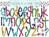 Alphabet Flower Petals Font