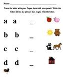 Alphabet Handwriting & Beginning Sound pre/post Assessment