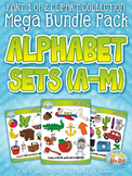 Alphabet Letters A-M Clipart Mega Bundle Pack — Includes 2