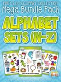 Alphabet Letters N-Z Clipart Mega Bundle Pack — Includes 2