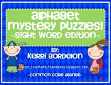 Alphabet Mystery Puzzles-Sight Word Edition!