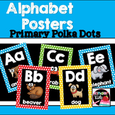 Alphabet Posters {Primary Polka Dots}