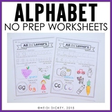 Alphabet Printable Pages-No Prep