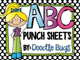 Alphabet Punch Sheets / Printables