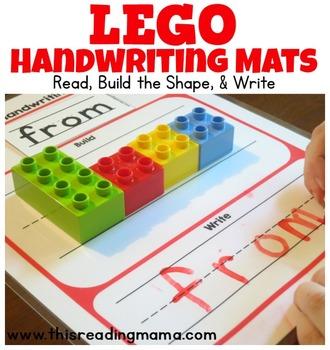 DUPLO and LEGO Handwriting Mats