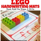 DUPLO and LEGO Handwriting Mats
