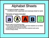 Alphabet: Word work, matching, letter identification