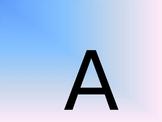 Alphabet letter recognition Powerpoint Practice Activity