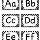 Alphabet pour le mur des mots