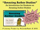 Amazing Author Studies (Introduction Author Study Mini-Lesson)