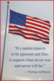 207 American Flag Illustrates Jefferson Quote About Ignora