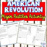American Revolution Major Battle Graphic Organizer