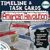 American Revolution Timeline Task Cards (Common Core ELA!)
