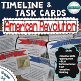 American Revolution Timeline Task Cards (Common Core ELA!)